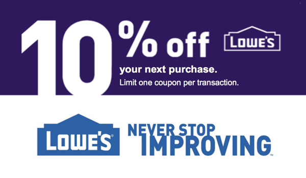 10$ Off Lowes Coupon