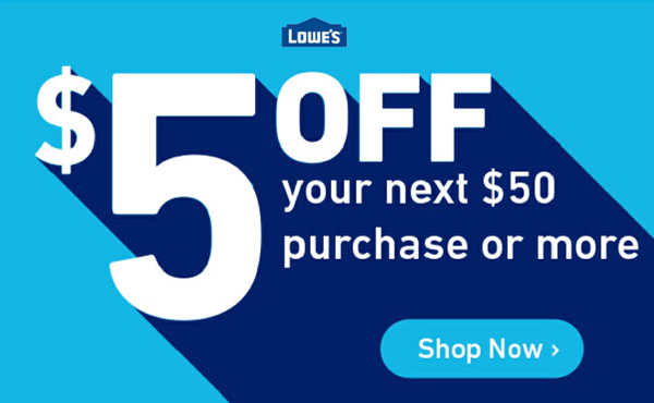 $5 Off Lowes Coupon