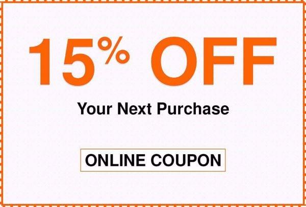 15% Off Home Depot Coupon