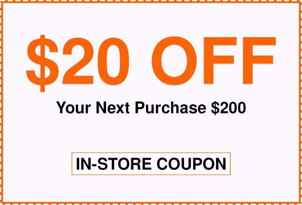 $20 Off $200 Home Depot In Store Coupon